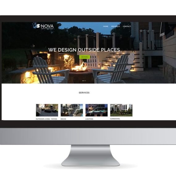 Nova Outdoor Living Website Design