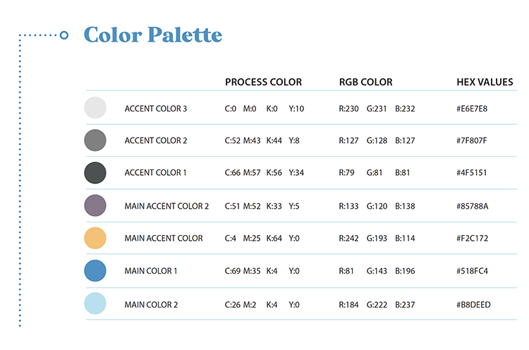 Color Palette, Brand Guidelines