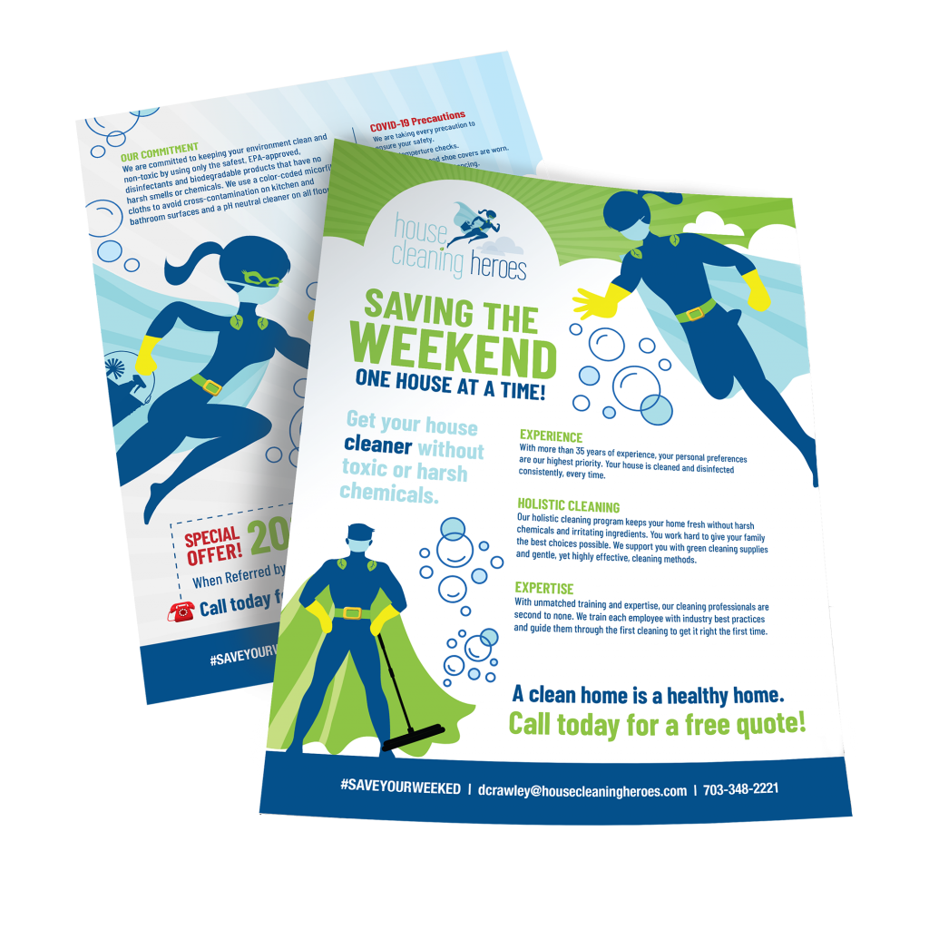 House Cleaning Heroes Case Study | Flyer Design