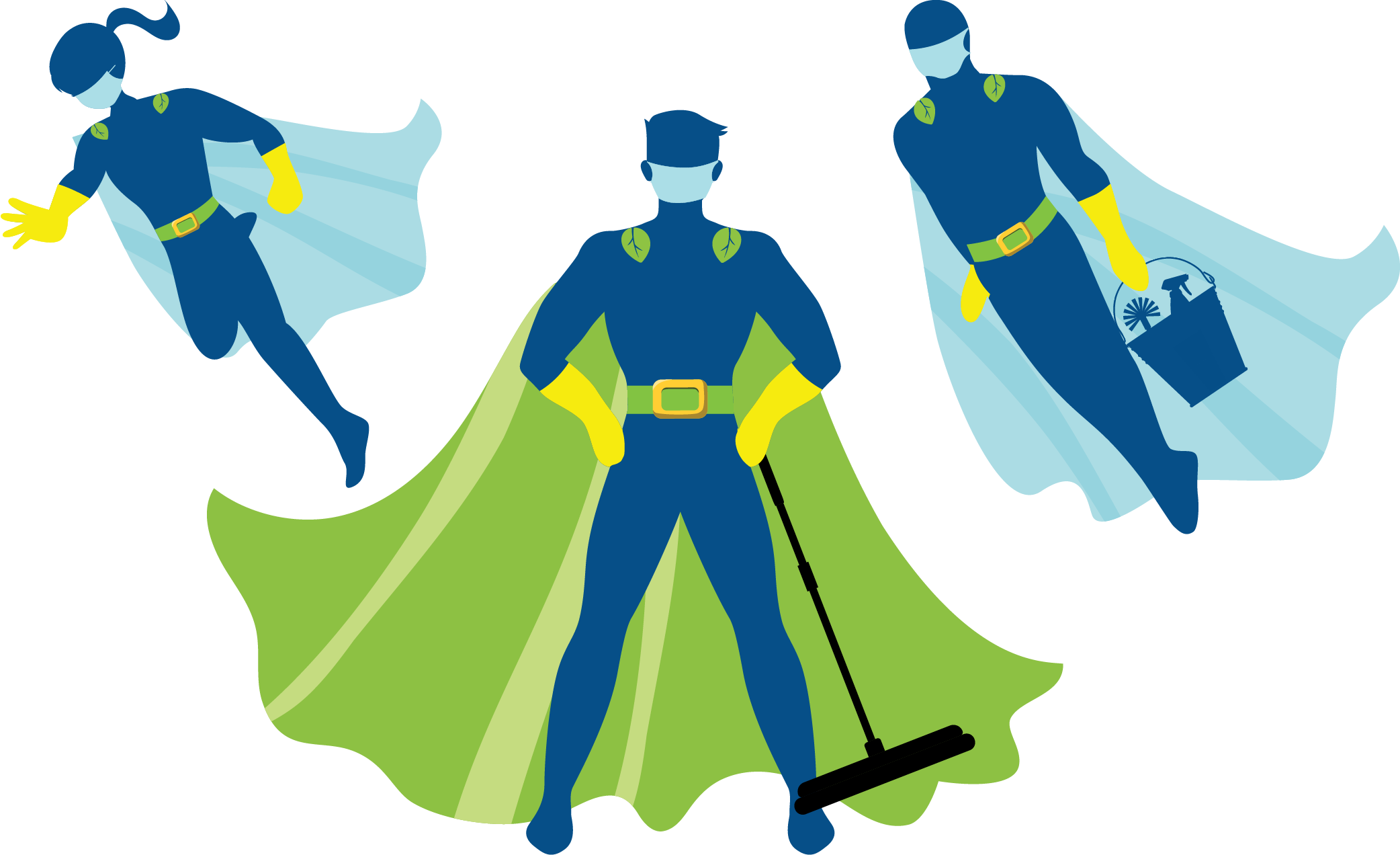 House Cleaning Heroes | Characters