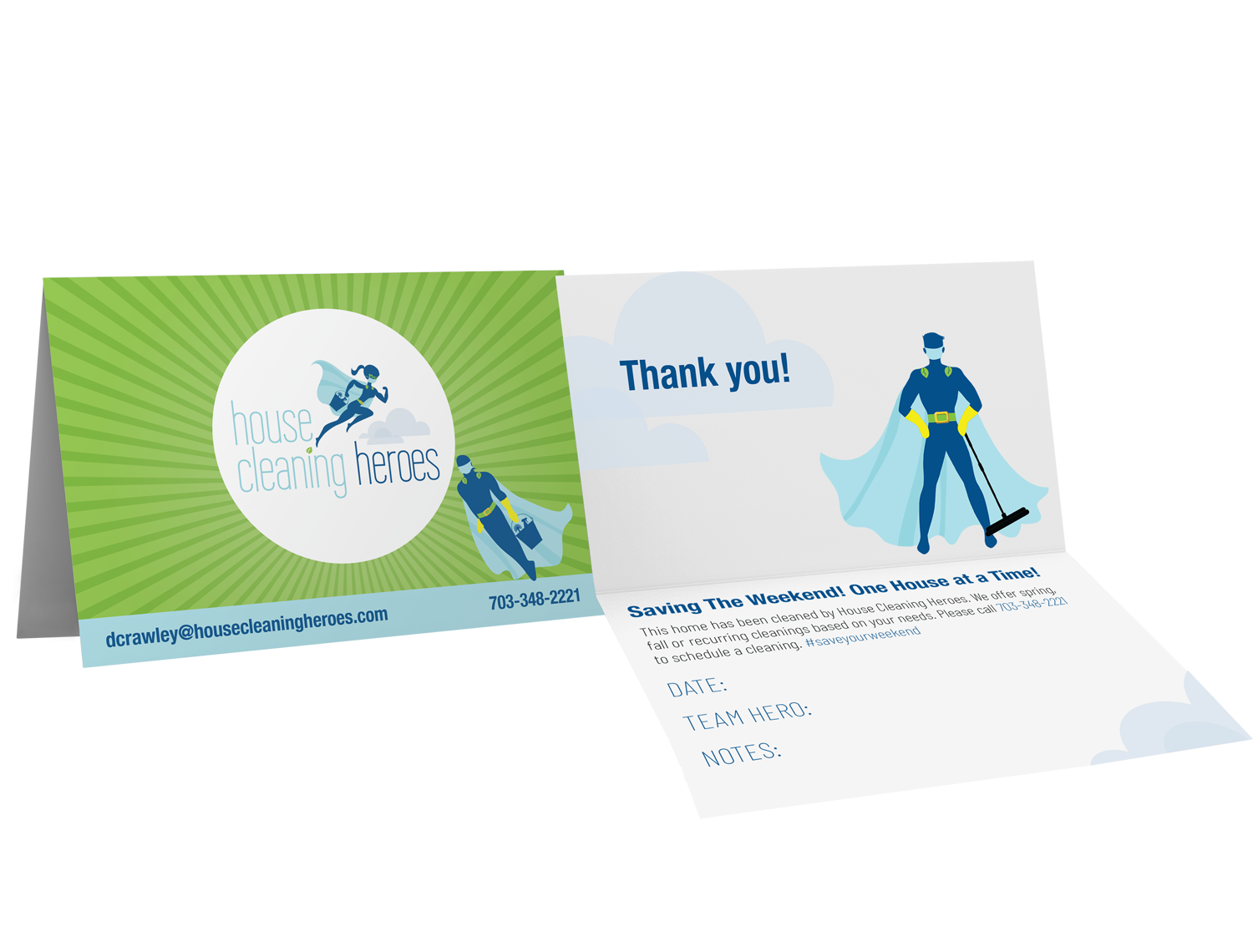 House Cleaning Heroes | Leave-Behind Tent Card